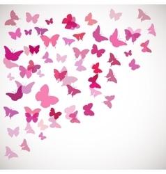 Pink butterflies Corner vector