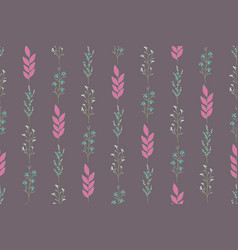 repeat seamless pattern with small flowers vector image