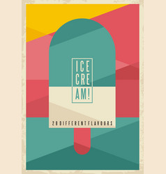 Retro geometric concept for ice cream vector