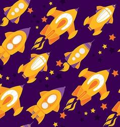 Seamless pattern rockets vector image