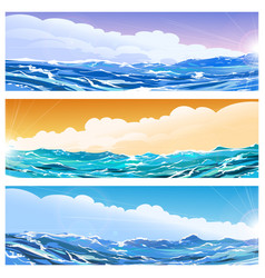 seascape banner set vector image