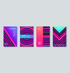set abstract multicolored cover design vector image