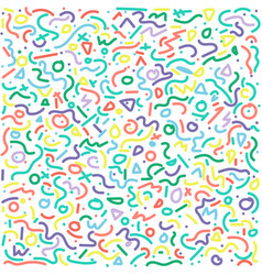 Set of postmodern patterns colorful vector