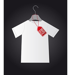 Shirt with tag vector