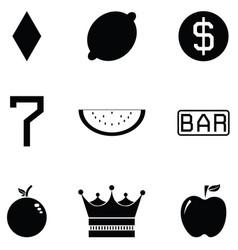 slot machine icon set vector image