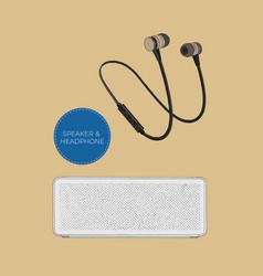 speaker and headphones set vector image vector image
