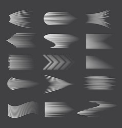 speed lines drawn halftone gradient cartoon lines vector image