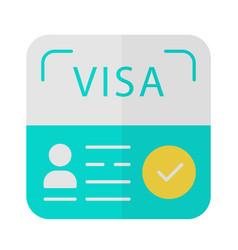 Start up visa flat design long shadow blue color vector