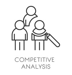 startup and business competitive analysis or data vector image