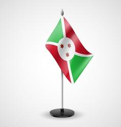 Table flag of Burundi vector