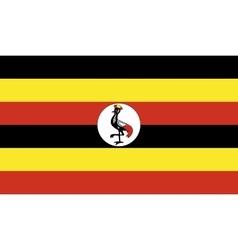 Uganda flag image vector