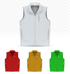Unisex vest isolated on white background vector