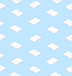 white books flat design seamless pattern vector image