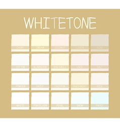 Whitetone Color Tone vector