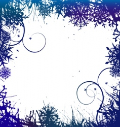 winter background snowflakes illust vector image