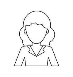 woman professional work office thin line vector image