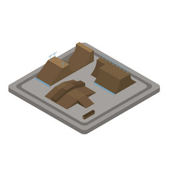 wood skate park icon isometric style vector image