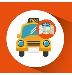 airline ticket map travel taxi cab vector image
