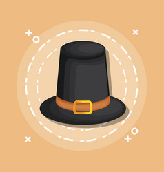 black hat cartoon vector image