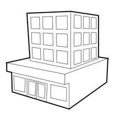 building icon outline style vector image