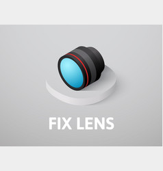 fix lens isometric icon isolated on color vector image