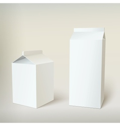 Milk Carton Packages Blank White vector image