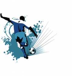 soccer europe in attack vector image
