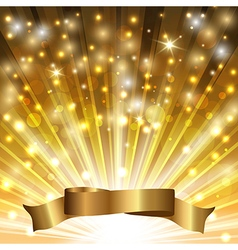 tape on gold vector image vector image
