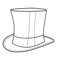 top hat for gentleman vector image vector image