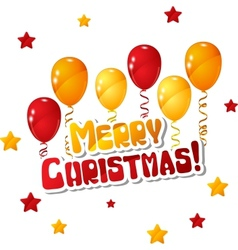 Merry Christmas Balloon Background vector image vector image