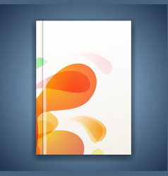 bright splatter energetic abstract folder cover vector image