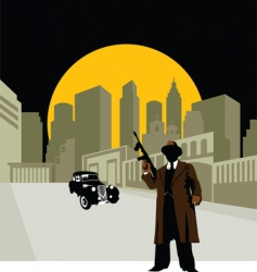 crime town vector image vector image