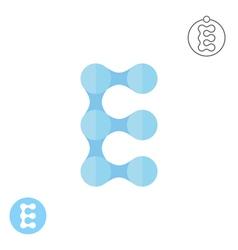 E letter logo conception vector