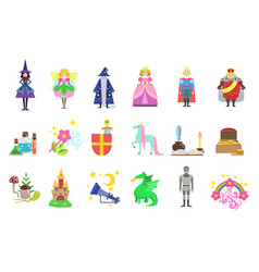 king prince and princess and related to them vector image