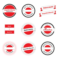Made in Austria labels badges and stickers vector image
