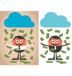 Money Rain vector image vector image