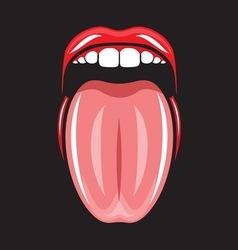 Pop art lips6 resize vector image