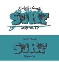 Surf t-shirt design vector image