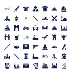49 ancient icons vector