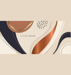 Abstract aesthetic hand drawn organic shapes vector