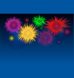 abstract colorful firework background on dark vector image
