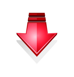 Arrow icon isolated right direction pointer vector