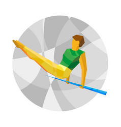 Artistic gymnastics - horizontal bar vector