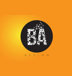 Ba b a logo made of small letters with black vector