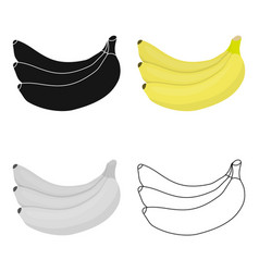 Banana icon cartoon singe fruit icon from the vector