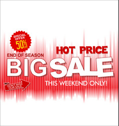 big sale and super offer background retro design vector image