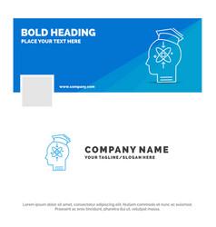 Blue business logo template for capability head vector