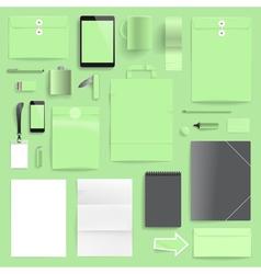 branding mockup lime retail vector image