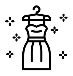 Bride dress icon outline style vector
