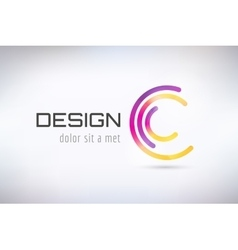 C logo template Abstract circle shape and vector